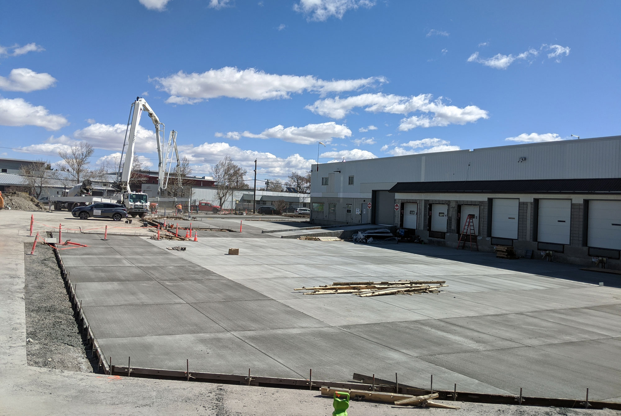 Construction Inspection for Concrete Pavement for Loading Dock